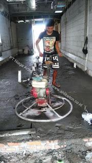 perbaikan lantai dengan floor hardener