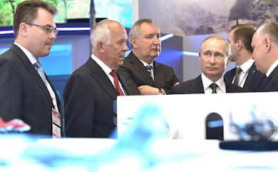 RussianPresident visited International Aviation and Space Salon MAKS-2017.