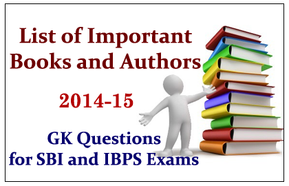 List of Important Books and Their Authors 2014-15