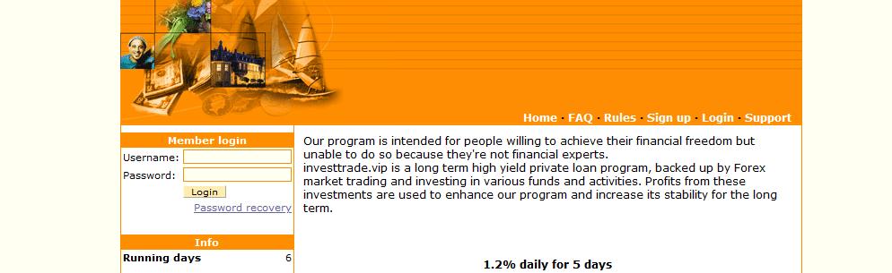 Мошеннический сайт investtrade.vip – Отзывы, развод, платит или лохотрон? Информация