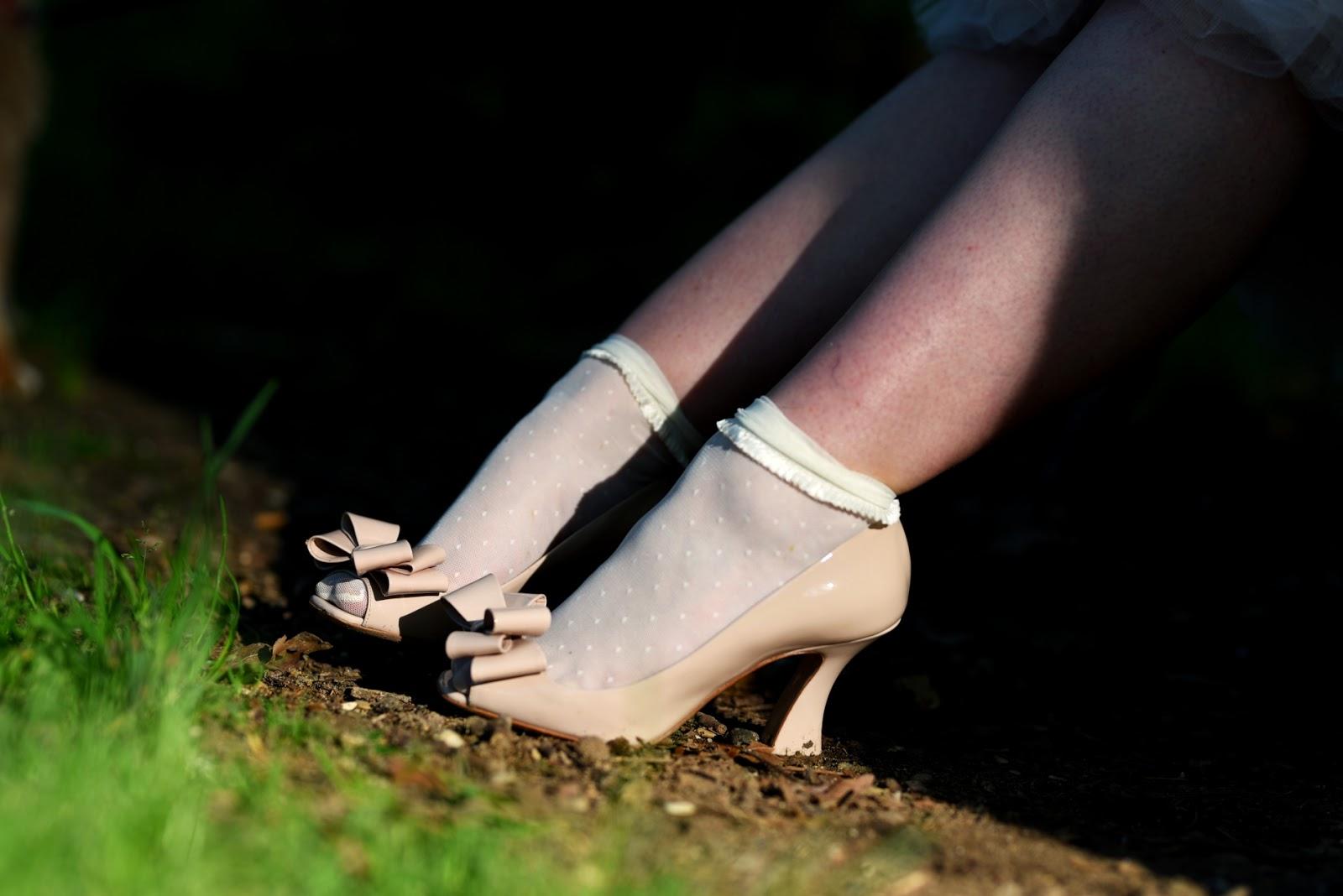 chaussures orchidées Miu Miu