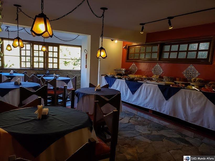 Detalhes da área do café da manhã da pousada Arcadia Mineira