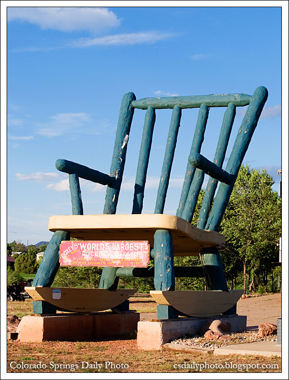 Strange Colorado Springs Daily Photo A Very Large Rocking Chair Gmtry Best Dining Table And Chair Ideas Images Gmtryco