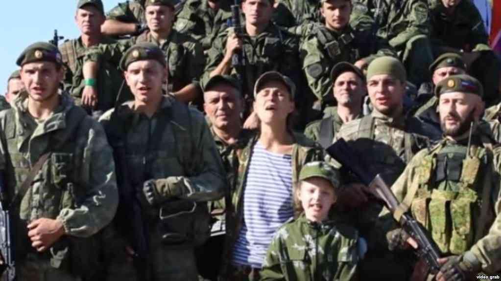 Чичерина среди российских оккупантов на Донбасе