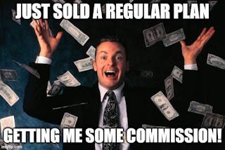 Regular plan sale commission