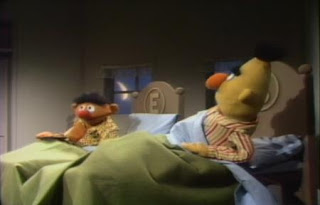 Bert tells Ernie not to eat cookies in bed. Sesame Street Best of Friends