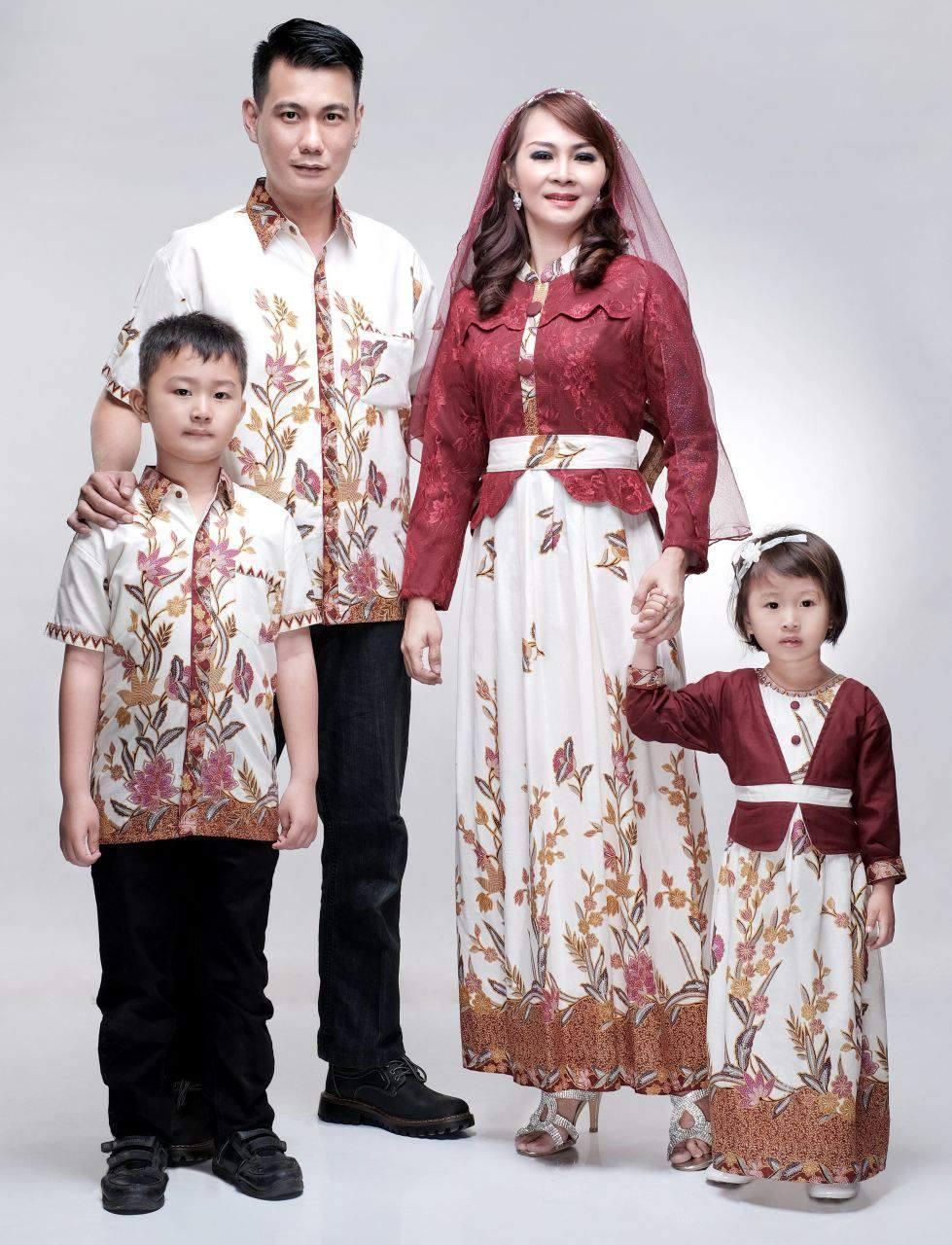 Batik Bagoes Solo Baju Batik Gamis Sarimbit Keluarga