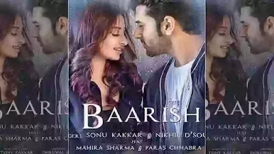 Baarish first poster release Paras Chhabra and Mahira Sharma in Romantic look