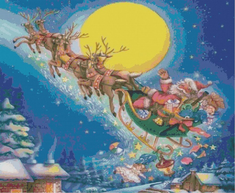 Babbo Natale Punto Croce Schemi Gratis.Professione Donna Schemi Per Il Punto Croce Babbo Natale Sulla
