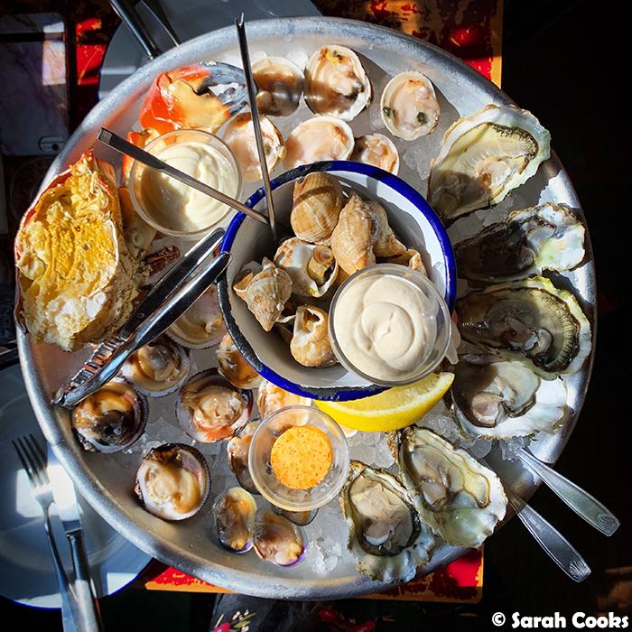 Clamato Seafood Platter
