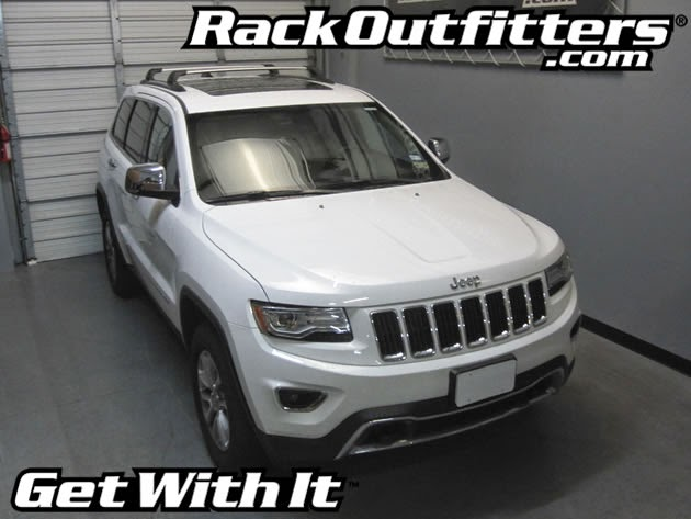 Jeep Grand Cherokee Whispbar Silver Flush Bar Base Roof