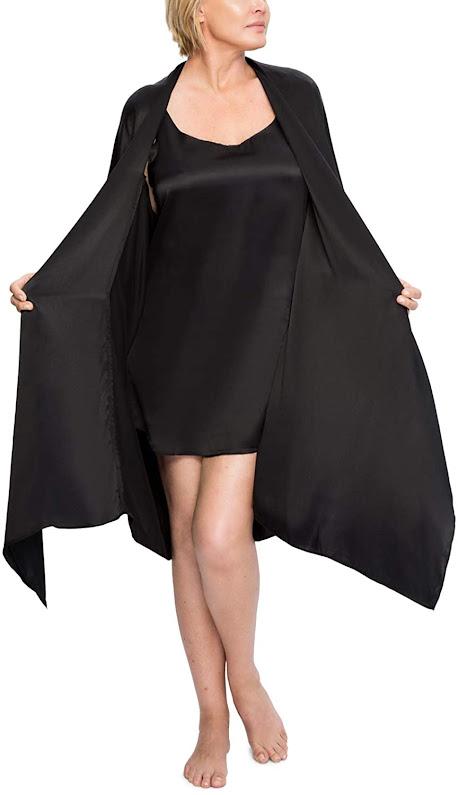 Black Silk Robes For Women