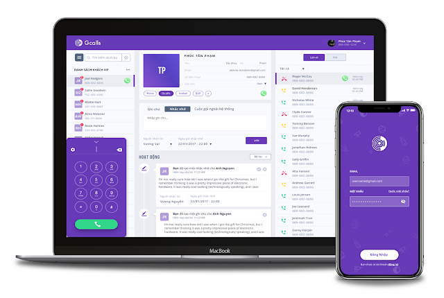 Ứng dụng, phần mềm nghe gọi Gcalls trên laptop và smartphone