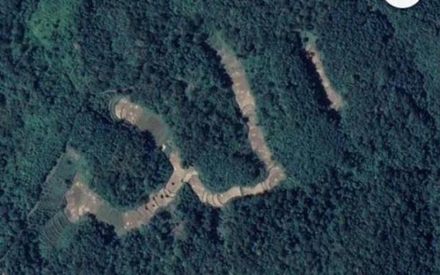 Lafal Allah Tangkapan Satelit Google di Sawahlunto Viral