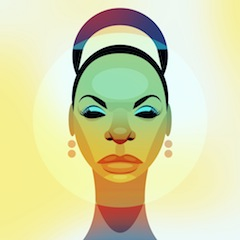 Nina Simone, artwork by Stanley Chow