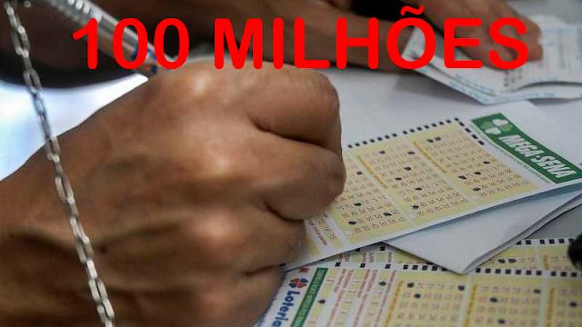 MEGA-SENA ACUMULA PELA 10ª VEZ SEGUIDA E PAGA R$ 100 MILHÕES - CONFIRA AS DEZENAS