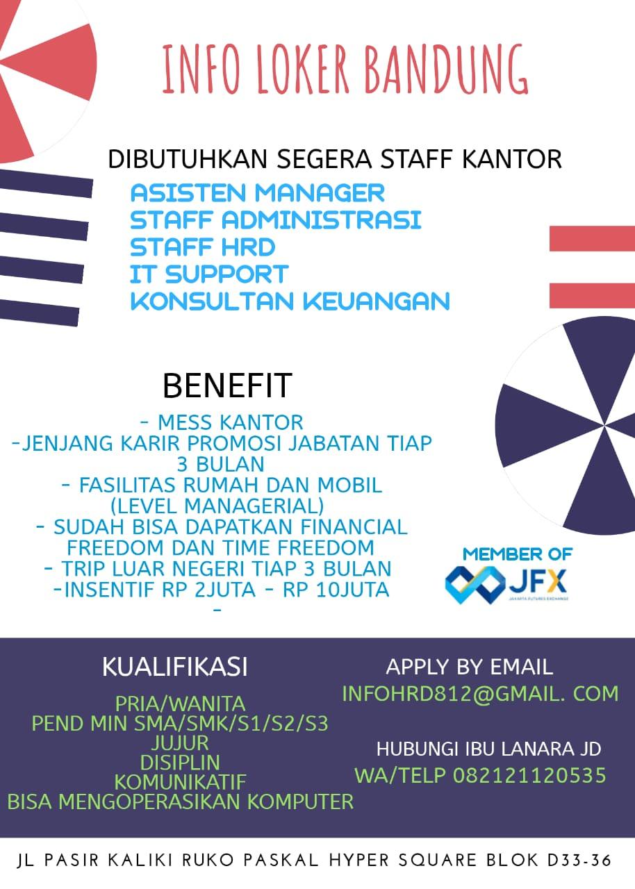 Lowongan Kerja Staff Kantor PT.Kppress Indonesia Bandung Februari 2020