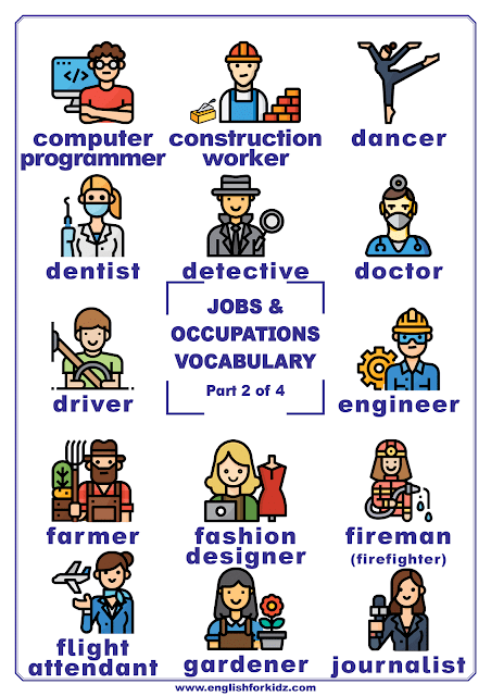 Jobs and occupations vocabulary words