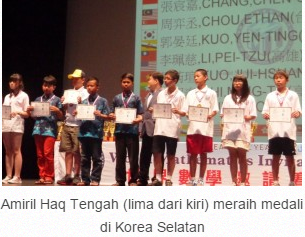 Luar Biasa ...Lulusan SD Masuk MTs Meraih Medali Matematika Di Korea Selatan