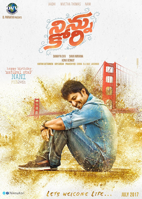 Ninnu Kori movie first look Poster