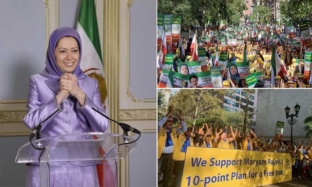 Message to the demonstration by Iranian-Americans in protest to the presence of the representative of Iran's ruling religious fascism at the United Nations