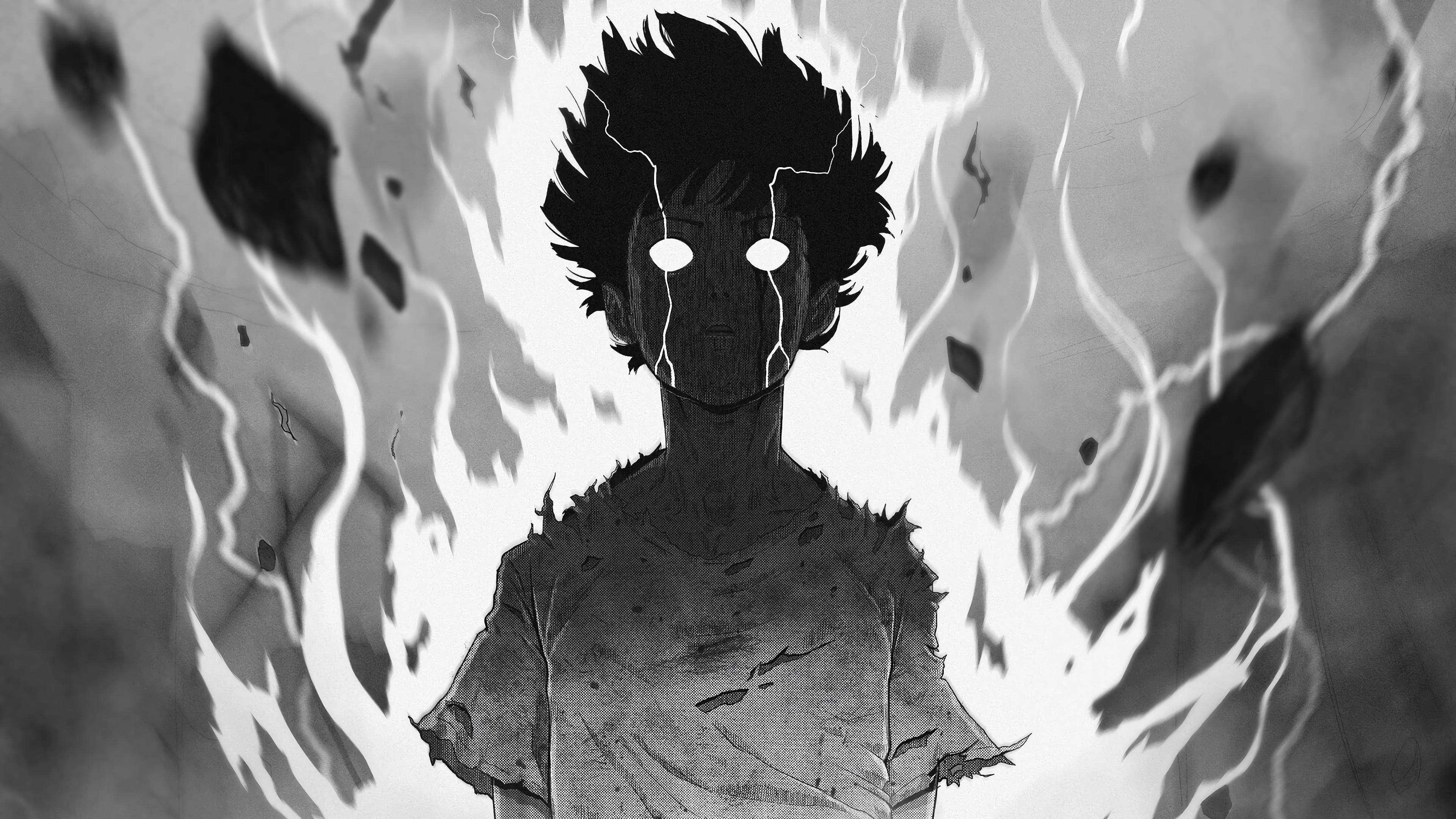 Shigeo Kageyama Rage Mob Psycho 100 4k Wallpaper 1