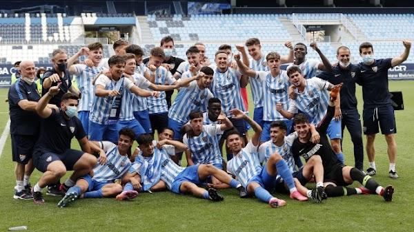 El Málaga Juvenil de Nacho se convierte en campeón de Liga tras ganar al Betis (3-0)