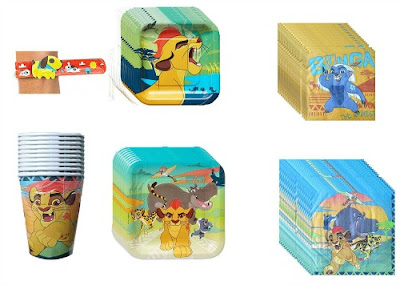 The Lion Guard Party Pack for 16 has plates, cups and napkins