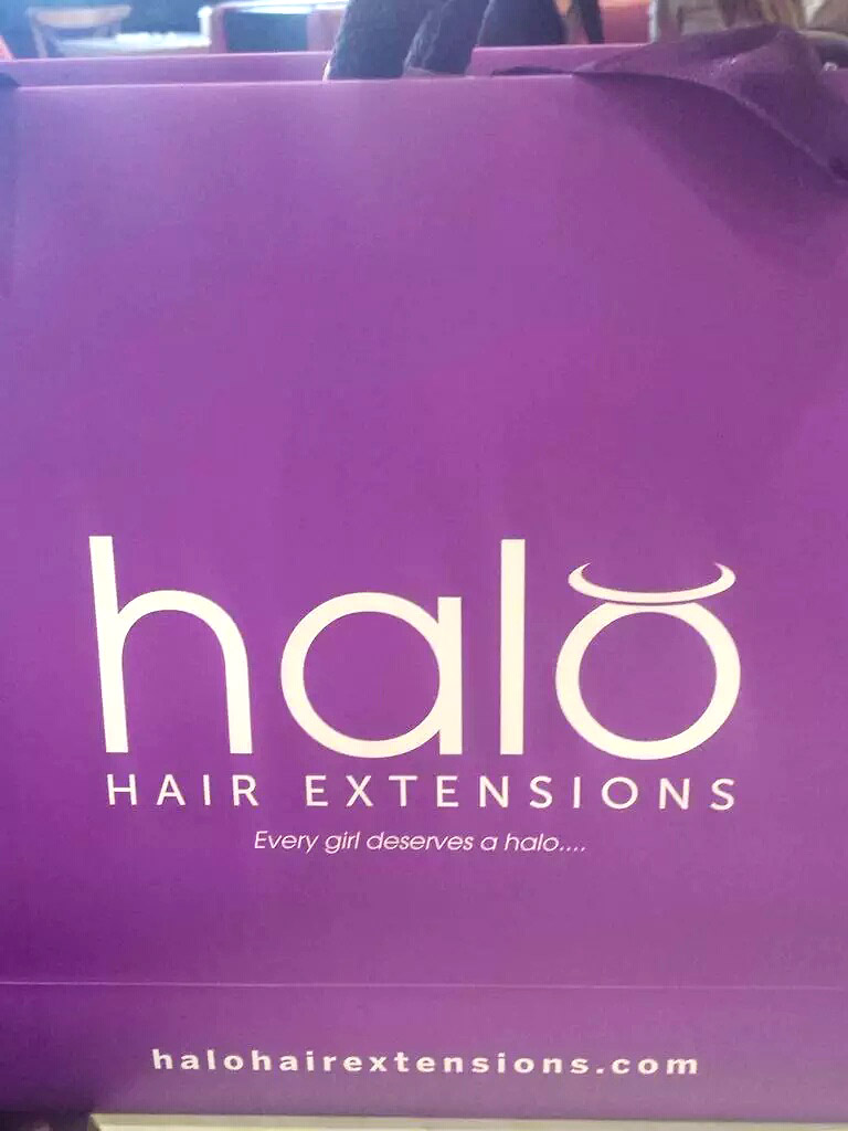 Bloggers Fashion Week Halo Hair Extensions