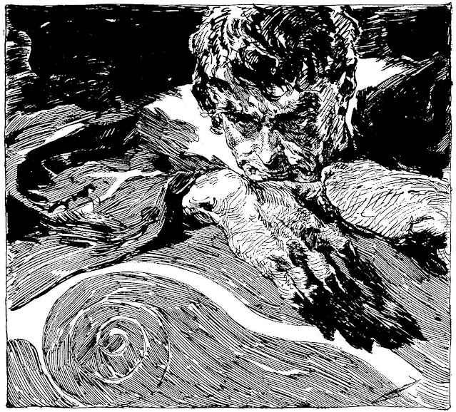 a Joseph Clement Coll illustration of a man thinking