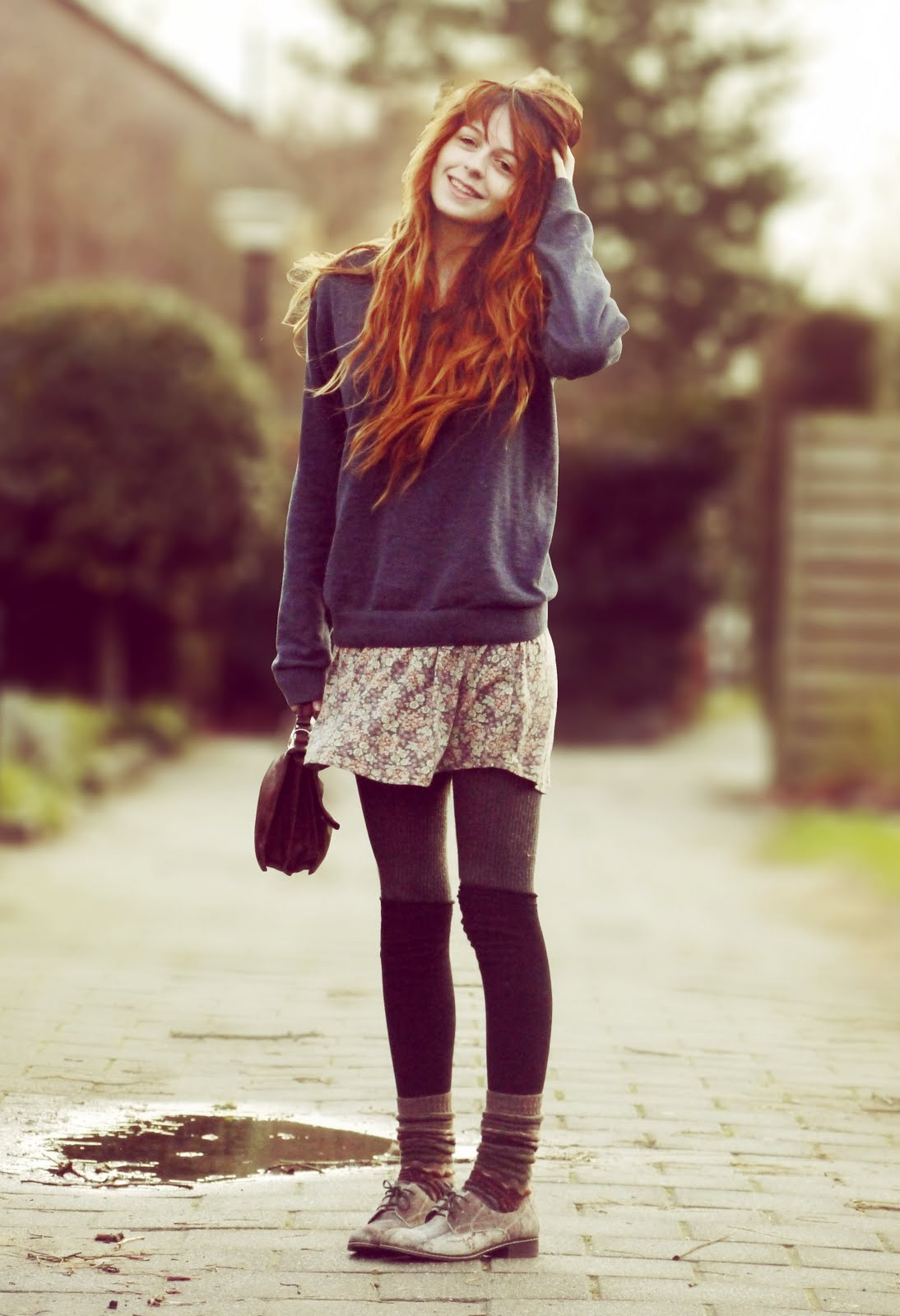 Image Blog Nadia S Cozy Outfits With Le Bunny Black Wanish Oxfords