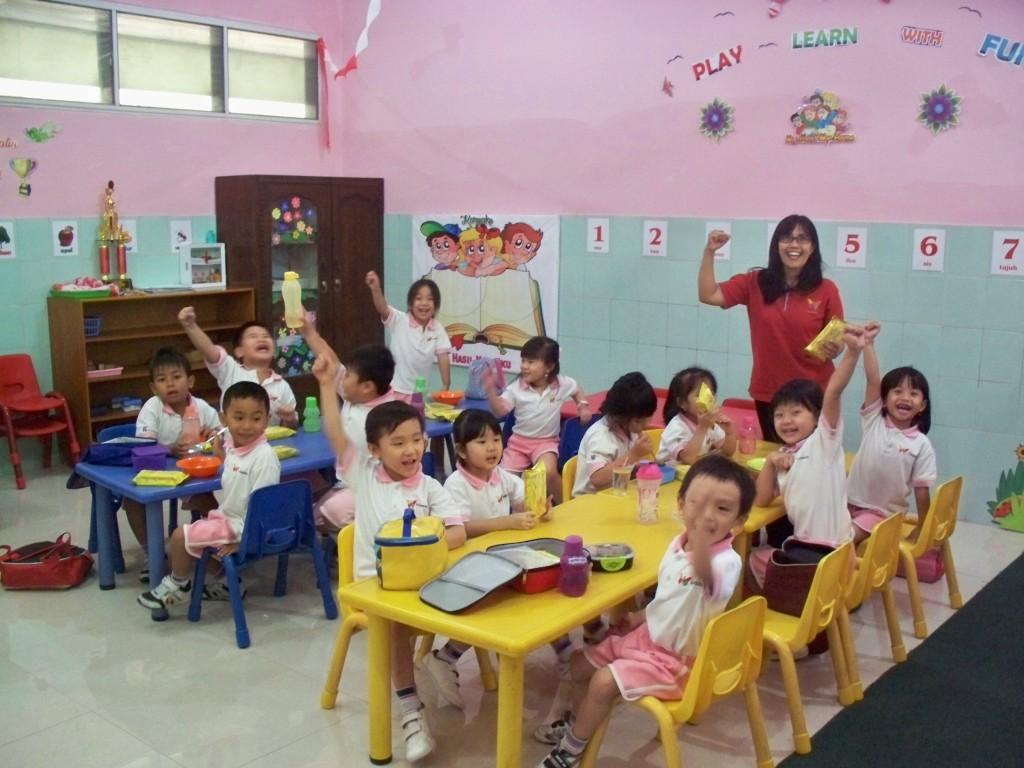 Kelas K2 TK Kalam Kudus Solo Merayakan HUT RI ke 71
