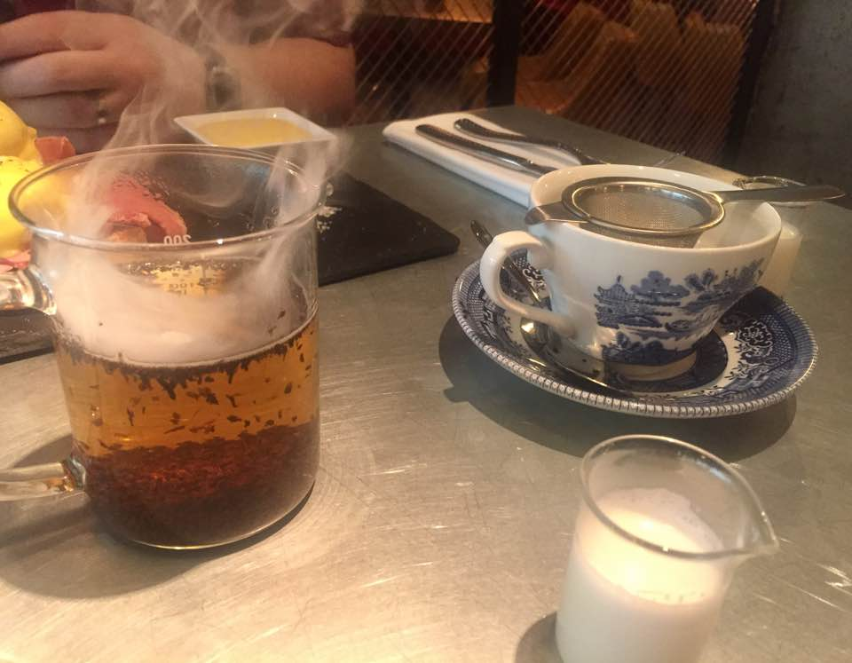 The Alchemist Newcastle | Breakfast Menu Review | English breakfast loose leaf tea with dry ice