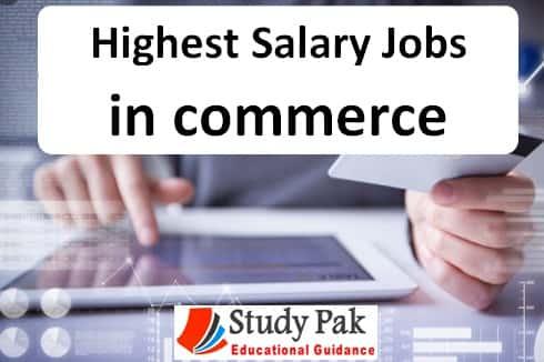 top ten highest salary jobs for commerce in Pakistan