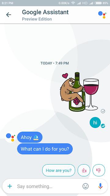 Smart Reply Google Allo BounceGeek