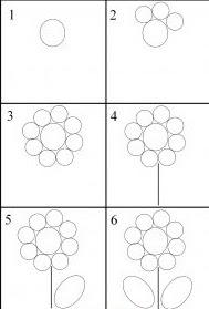 تعليم رسم للاطفال صور رسم زهور رسومات صغار