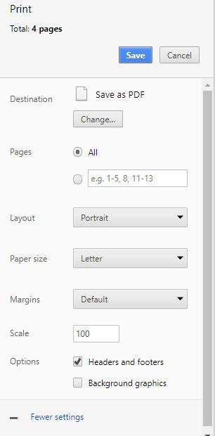 Penyimpanan halaman blog ke file PDF