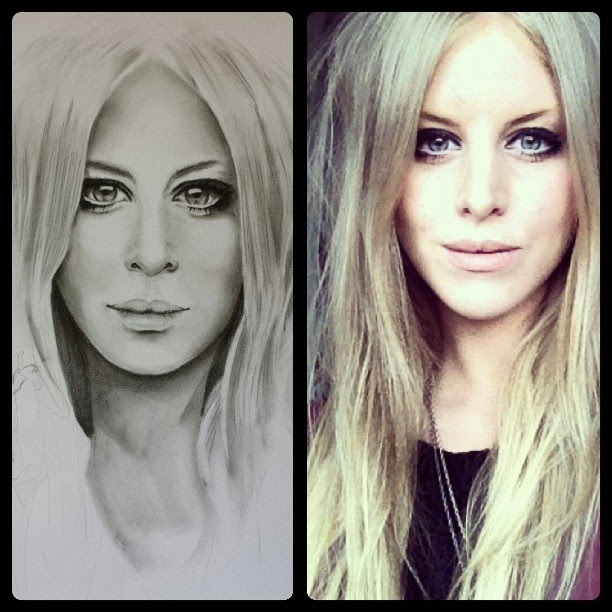 04-Drawing-v-Photo-side-by-side-Steph-Diaz-Zahalka-A-Compilation-of-Different-Portrait-Style-Drawings-www-designstack-co