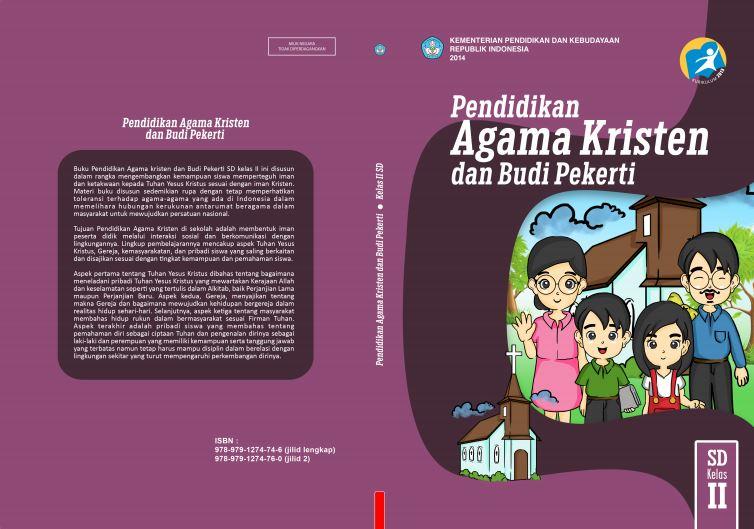Download Gratis Buku Guru dan Buku Siswa Pendidikan Agama Kristen dan Budi Pekerti SD Kelas 2 Kurikulum 2013 Format PDF