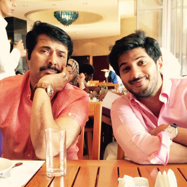 Dulquer Salmaan with father Mammootty