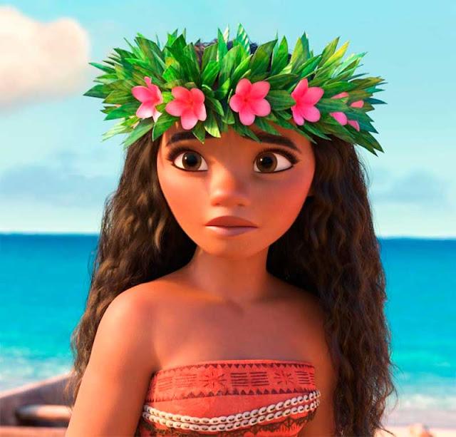 Moana cabelo, princesa Disney