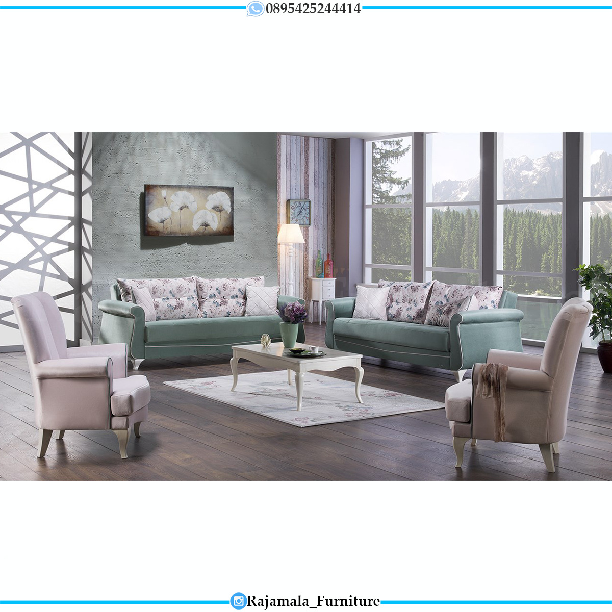Sofa Tamu Minimalis Jepara Modern New Shabby Design RM-737