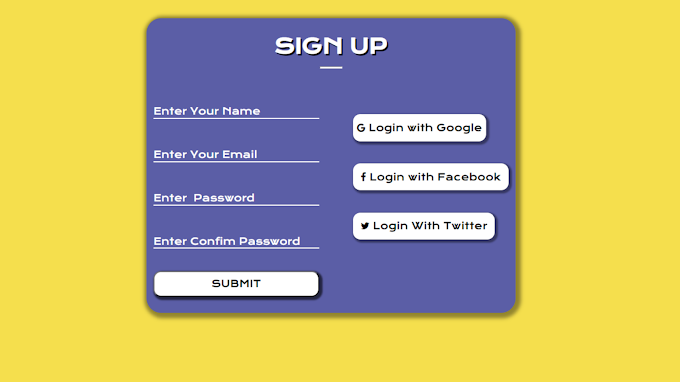Sign Up Page कैसे बनाये। Sign Up Page Front End using HTML and CSS। How to Create Sign Up Page