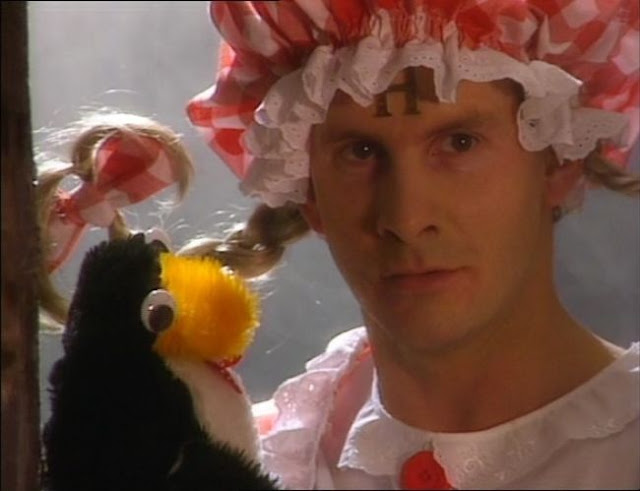 """Rimmer and Mr Flibble in """"Quarantine"""" from Red Dwarf V"""