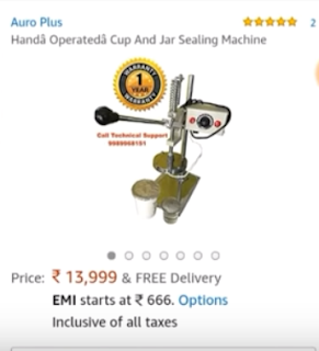 glass or cup sealing machine