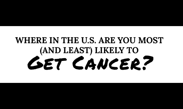 Where in the U.S. Are You Most (And Least) Likely to Get Cancer?