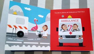 Mes véhicules animés - Editions THOMAS JEUNESSE - l'ambulance