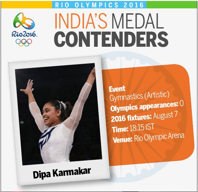 Rio Games: Dipa Karmakar qualifies for vault finals in Olympics