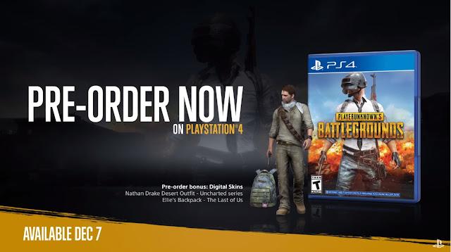 PUBG kini telah dirilis di PS4.