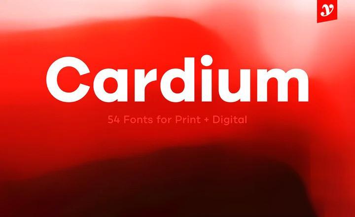 Cardium Font - Free Geometric Sans Serif Typeface